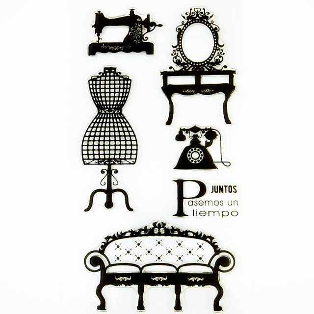 Ylcs052 Furniture Silicone Clear Stamps For Scrapbooking Diy Album