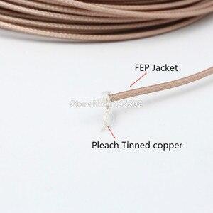 Image 3 - 50 מטרים\חבילה 164ft RG316 חום קואקסיאלי כבל חוטים RF 50 אוהם מסוכך כבל חוט DIY