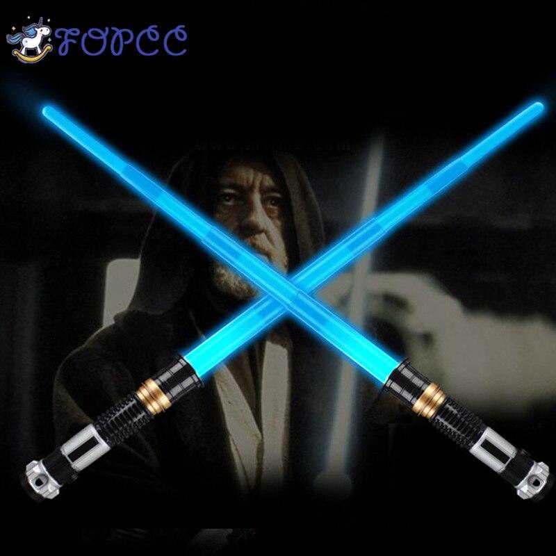 Star Wars sable espada láser retráctil juguetes de los niños luminosa efectos de sonido rendimiento accesorios niños y niñas al aire libre