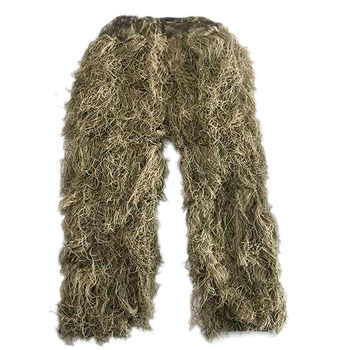 Desert Camouflage Hunting Ghillie Suit CS Game Hide Uniform Bird-watching Photography Outdoor Military Tactical Sniper Set Kits