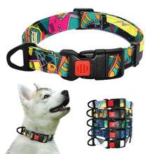 Coleira para cachorro estampada, coleira ajustável para cães pequenos chihuahua bulldog francês, produtos para animais de estimação