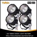 (4 peças/lote) COB LED Par luz LED Wash Luz RGBW 80 w DMX 8 Canais de Controle Remoto Infravermelho
