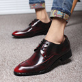 New Arrival Fashion Men Oxford shoes Lace-Up Pointed Toe Casual Leather shoes Male Flats Wedding shoes Plus Size 38-48