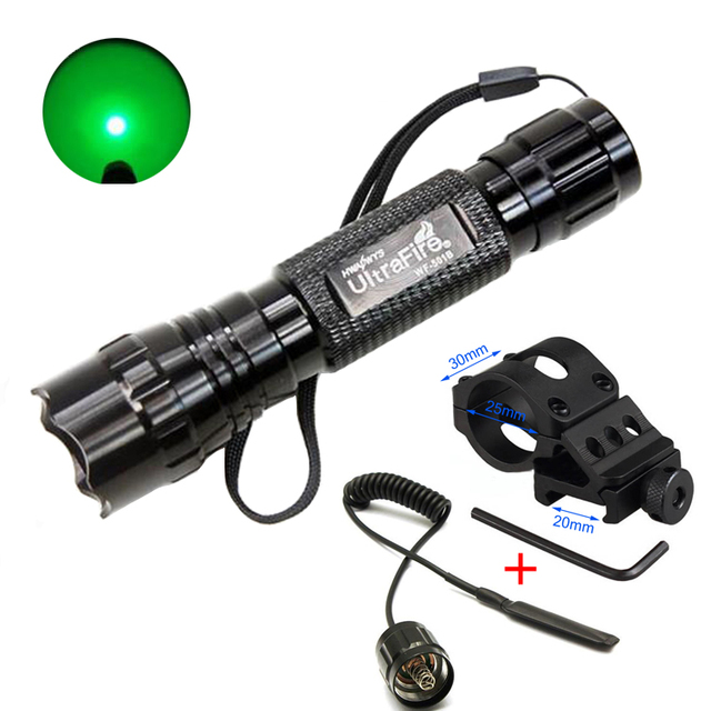 501B Led Green Light Tactical Flashlight Hunting Rifle Torch Shotgun  Lighting Shot Gun Mount+Tactical