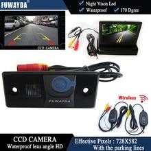 Fuwayda Беспроводной Цвет CCD вид сзади автомобиля Камера для Porsche Cayenne VW Skoda Fabia Tiguan TOUAREG + 4.3 дюймовый складной ЖК-дисплей Мониторы