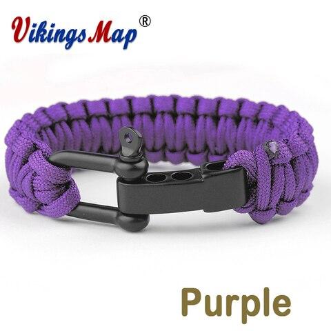 Новые цветные плетеные браслеты походные спасательные паракорды