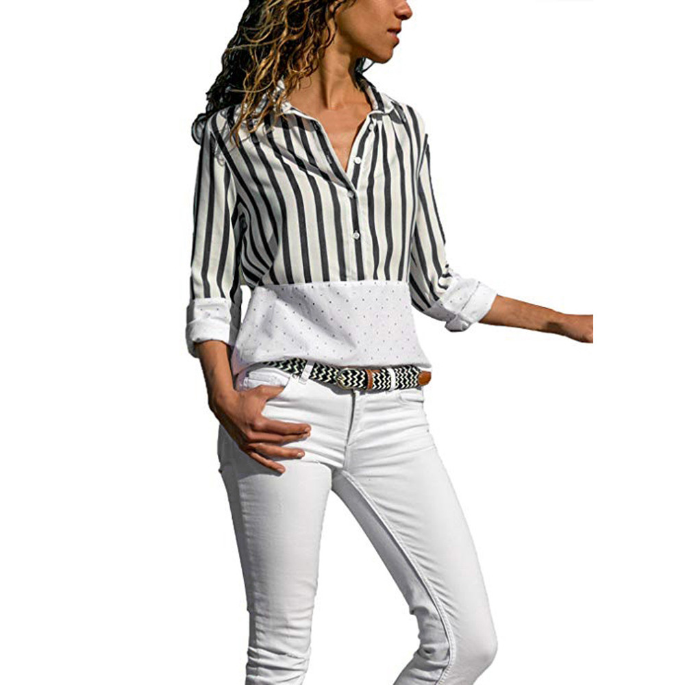 Women Shirt Tops and Blouses Long Sleeve Turn-down Collar Office Lady  Autumn Shirts Women ebc852c071c4
