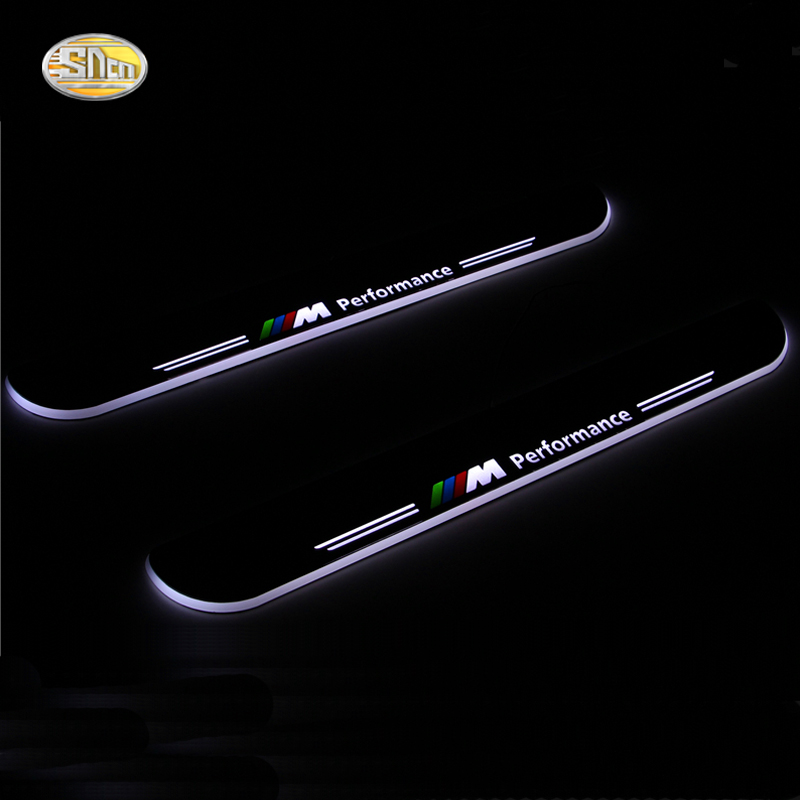 SNCN LED moving light scuff pedal For BMW F10 F18 5series 2010-2015 car acrylic led door sill welcome pedal