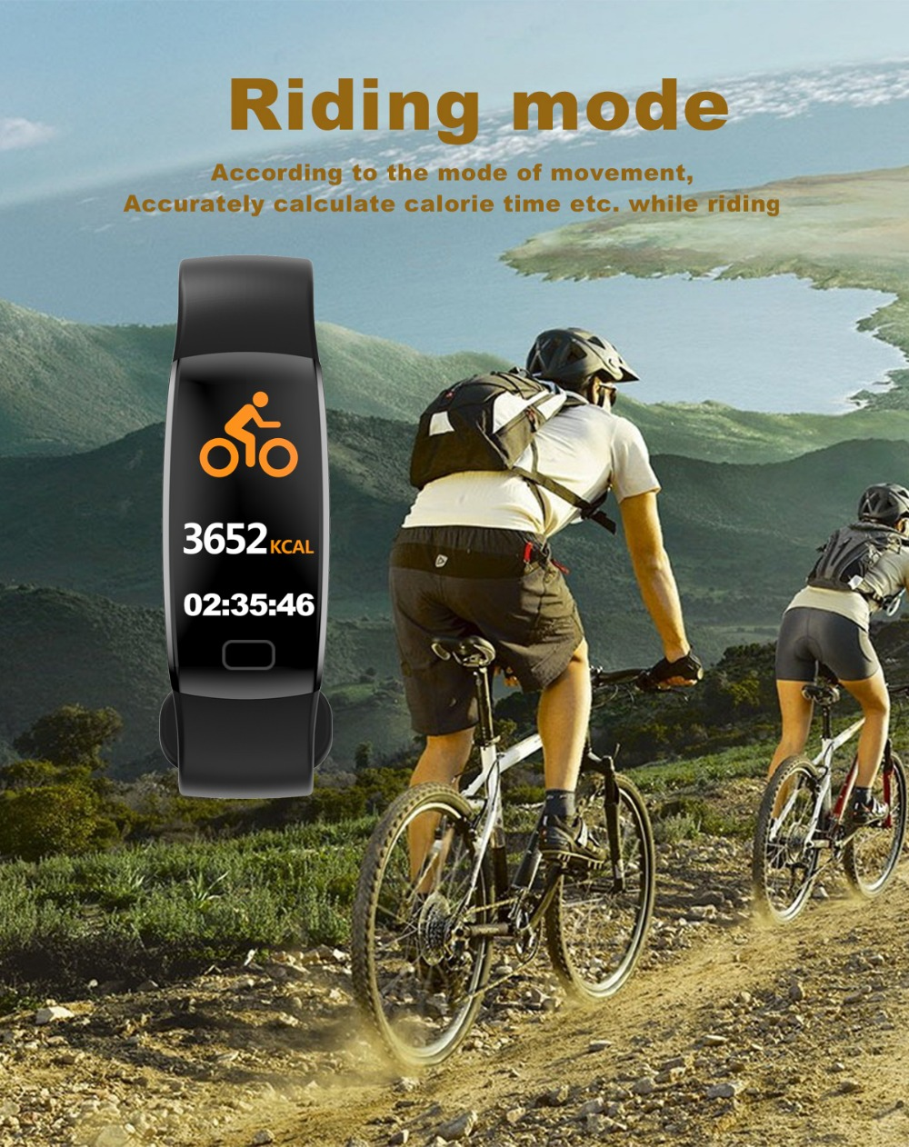 Smart Wristband 2018 Bracelet F64 Smartband gps waterproof sleep monitor Fitness Bracelet Smart Watch Call Alarm For iOS Android (11)