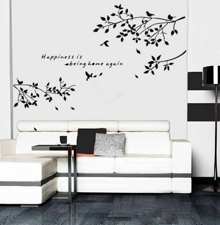 Tree Branch Wall Decor online shop birds on tree branches wall sticker removable vinyl