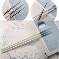 Lot 3 UNIDS Uñas de Acrílico Arte UV Gel Pincel Fino Revestimiento Diseño Dibujo Consejos Decoración Striping Pen Kit Conjunto de Herramientas de BRICOLAJE Al Por Mayor