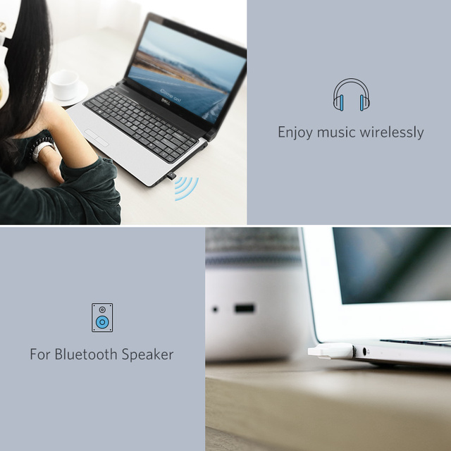 Ugreen Wireless USB Bluetooth Adapter APTX for PC Bluetooth 4.0 Dongle Audio Receiver Bluetooth Transmitter for 10/8/XP/Vista