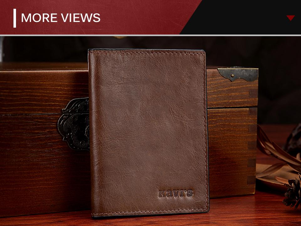Topdudes.com - Genuine Leather Credit Card Holder Wallet for Men