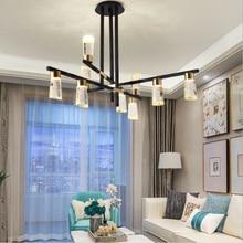 цены на Modern Crystal Led Pendant Lamp For Living Room Hotel Hall Restaurant Hanglamp Light Fixtures Parlor Decoration Led Chandeliers  в интернет-магазинах