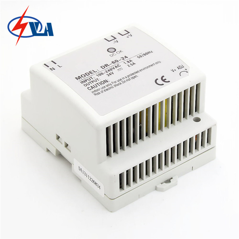 DR-60 60W 12V 24V input din-rail switching power supplies ac to dc power supplier Low noise AC110V 220V genuine leadshine acs606 dc input brushless servo drive with 18 to 60 vdc input voltage and 6a continuous 18a current