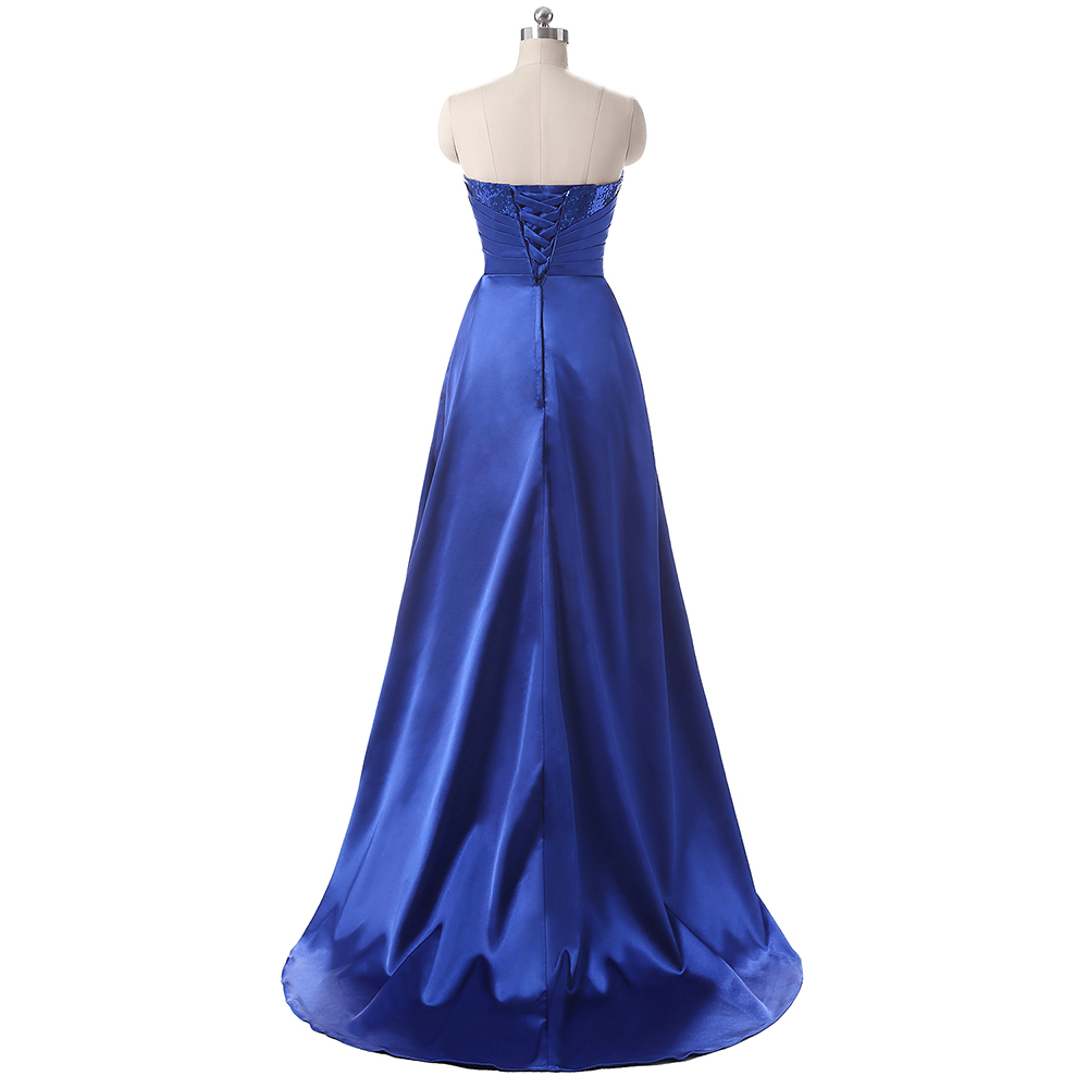 Wedding Bridesmaid Dress Fashion Women Satin Long Bridesmaid Dresses 2018 4