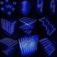 3D Squared DIY Kit 8x8x8 3mm LED Cube White LED Blue/Red Light PCB Board free shipping