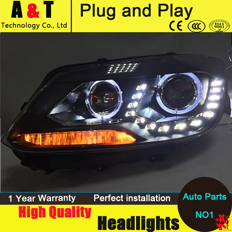 Auto Lighting Style Head Lamp for VW Touran led headlight assembly 2011-2014 Volkswagen Touran led drl H7 with hid kit 2pcs. 2pcs car styling auto no error under mirror led puddle light lamp for volkswagen vw golf mk6 gti touran 2011 white accessories
