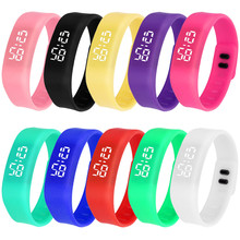 Horloges Watch 2017 Relojes Mujer Women Men LED Sports Running Unisex Date Rubber Bracelet Digital Wrist Girl Led Dress