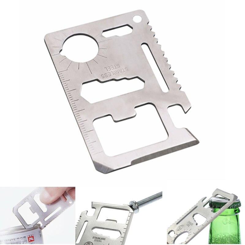 spade A credit edc bottle multifunction card gear pocket tool poker beer multi multipurpose gadget multitool opener wallet kit(China)