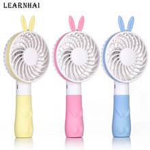 LEARNHAI USB Fan 2-Speed Adjustable Portable Mini Hand Fans 1200mAh Rechargeable Ultra-Quiet Air Cooling Fan For Travelling Home mini usb hand fan cooling portable fan led light air conditioner cooler adjustable speed heat rechargeable battery fans 200mm