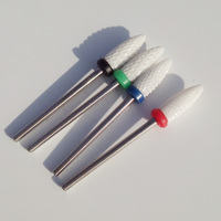 4pcs Lot High Quality Ceramic Nail Drill Bit Rotary Burr For Electric Manicure Machines Pedicure Files