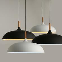 מינימליסטי מודרני תליון מנורות E27 עץ & אלומיניום אהיל תליית & תליון אורות 110V 220v עבור אמנות אופנה דקור Luminaire