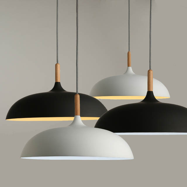 Us 54 0 50 Off Minimalist Modern Pendant Lamps E27 Wood Aluminum Lampshade Hanging Lights 110v 220v For Art Fashion Decor Luminaire In