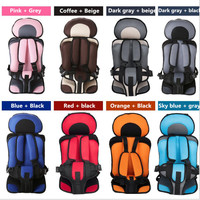 Portable Child Kids Baby Car Safety Seat Booster Cushion Heightening Shoulder Pad Seat Five Point Harness
