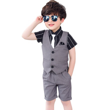 Dollplus Summer Suits for Boys Costumes Child Boy Wedding Suit