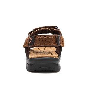 Image 4 - ROXDIAของแท้หนังใหม่แฟชั่นฤดูร้อนBreathableชายรองเท้าแตะชายหาดรองเท้าผู้ชายรองเท้าPLUSขนาด 39 44 RXM002
