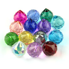 Glass Balls Decor Mixed Color Crystal Faceted Balls Glass Chandelier Prism Hanging Balls Home Decoration Accessories