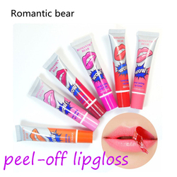 Romantische bär lip tint lipgloss matte lip gloss peel off wasserdicht koreanische make-up lippen pflege fruchtigen geruch Feuchtigkeitscreme