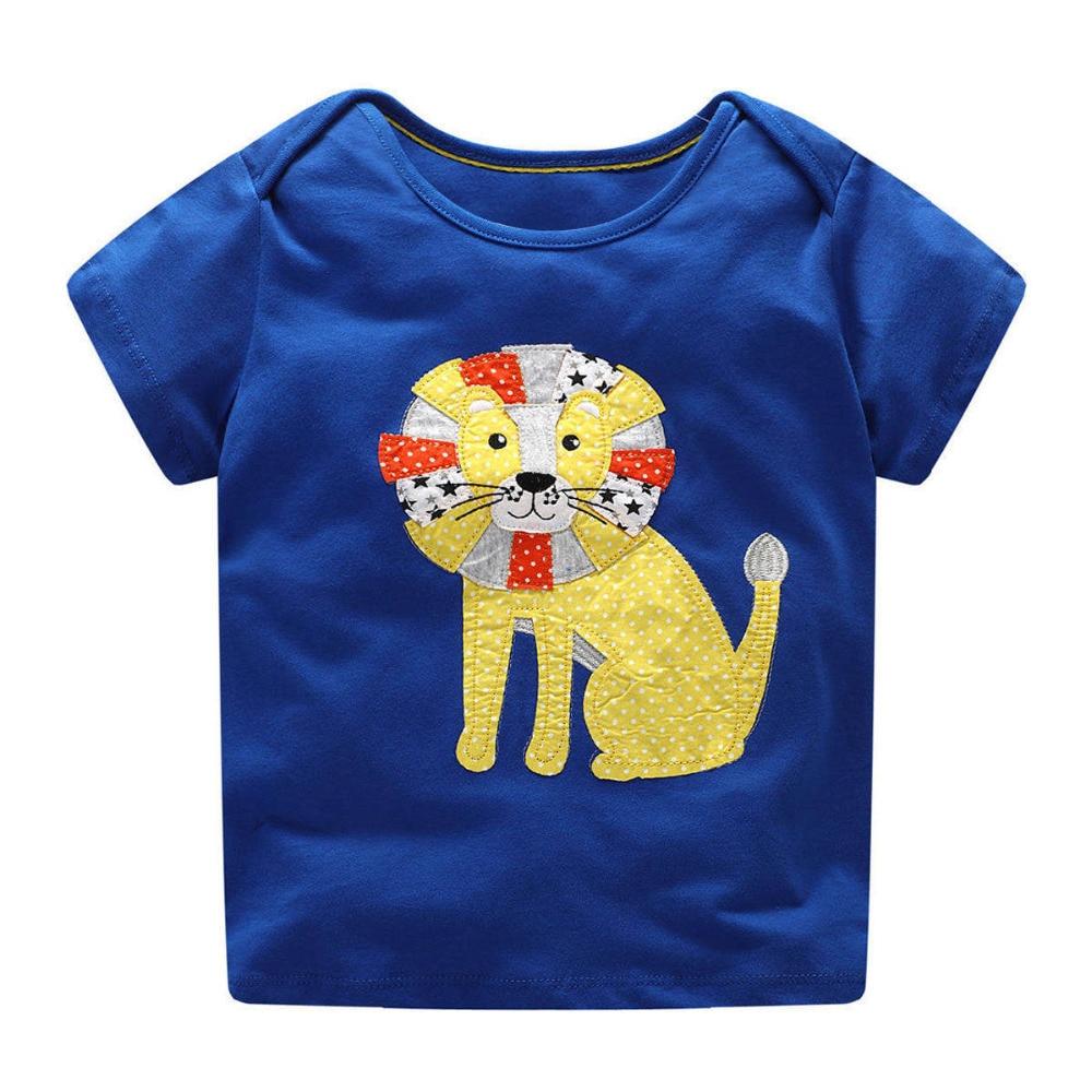 Littlemandy Boys T Shirt Baby Topy Letnie ubrania 2018 Dinosaur - Ubrania dziecięce - Zdjęcie 1