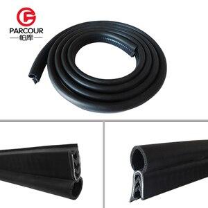 Image 4 - Alta qualidade 1m epdm e isolamento de ruído de aço de vedação de borracha tira placa de aço auto acessório abrigo do ruído do vento