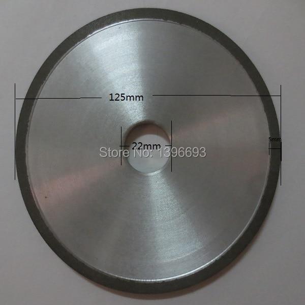 125x5x22,2x3mm CARBIDE CHAIN pjūklo galandimo diskas, šlifavimo diskai grandininiam pjūklui. Plokščiojo tipo, derva.