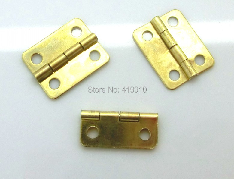 Free Shipping-50pcs Gold Plated Hardware 4 Holes DIY Box Butt Door Hinges (Not Including Screws) 16x13mm J1261 10pcs antique bronze cabinet hinges furniture accessories door hinges drawer jewellery box hinges for furniture hardware 36x23mm