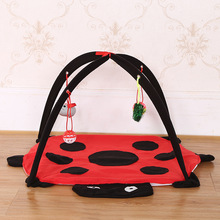 Beetle cat tent pet litter toy striped play wholesale
