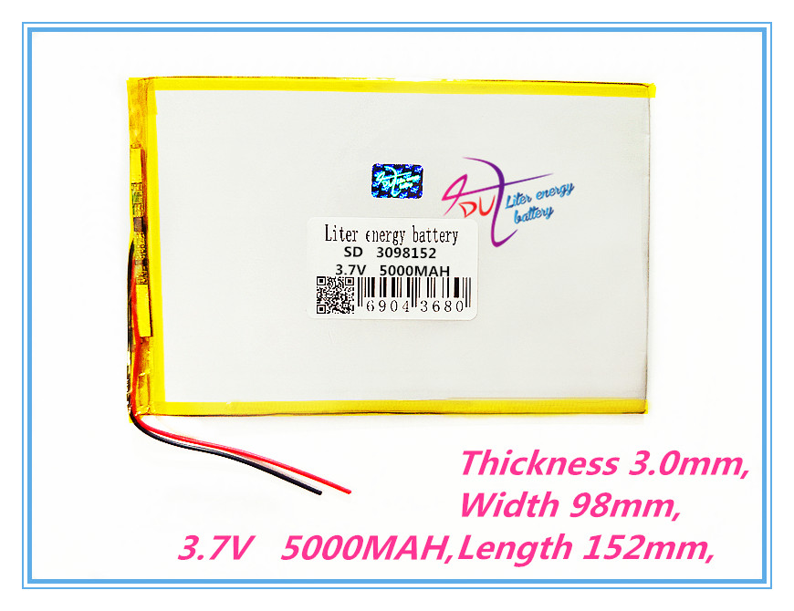 lithium polymer battery 3098152 3.7V 5000MAH V819 3G Tablet PC built-in battery 30100150 Rechargeable batteries