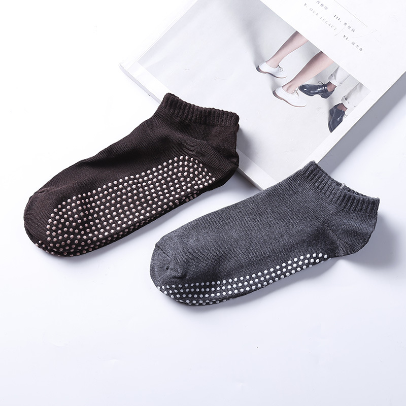 Men Professional Yoga Socks Polyester Anti Slip Rubber Dots Sports Indoor Exercise Breathable Socks for Pilates Workout Dance in Yoga Socks from Sports Entertainment