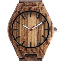 Creative Unique Natural Wooden Watches Mens Analog Style Zebra Full Bamboo Men Quart Watch Luxury Handmade