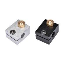 1/2 ADET Alüminyum V6 J-kafa 3D V6 Blok Isı Bloğu M6 Ile Uyumlu yazıcı RepRap Ekstruder Memesi 3D Yazıcı Için parçaları