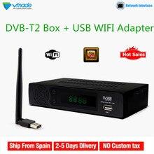 Vmade DVB-T2 + USB WIFI Full HD 1080P MPEG4 Digital Terrestrial TV Rece