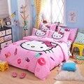 UNIKIDS Bonito dos desenhos animados capa de edredão set conjunto de cama para Crianças menino ou meninas tamanho Gêmeo KT015