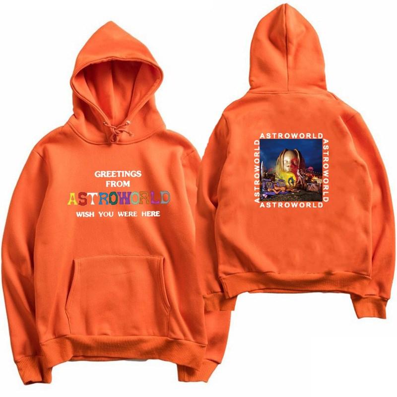 Imprimé Travis Scotts ASTROWORLD sweat à capuche hommesfemmes vêtements 2018 dessin animé lettre Hip Hop sweat à capuche homme Streetwear