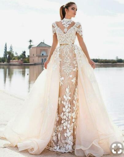 amanda novias custom made dress-in Wedding Dresses from Weddings & Events    1