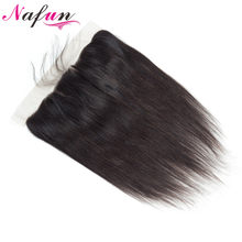 NAFUN Peruvian Straight Hair 13x4 Lace Frontal Closure With Baby Hair Human Hair Lace Closure Non Remy Frontal Free Shipping(China)