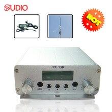 1 комплект 15 Вт fm-передатчик для вещания Стерео PLL FM радио станция 87 МГц-108 МГц+ источник питания+ антенна GP