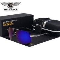 HD משקפי שמש גבר משקפי שמש מקוטבות אופנתיים אל Mg מראה קלאסי צפרדע דיג ללא מסגרת משקפיים נהיגה Oculos דה סול Gafas LD004