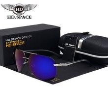HD Hombre Con Estilo gafas de Sol Polarizadas Magnesio Al Eyewear Classic Rana Espejo Gafas Sin Montura Gafas de Conducción Gafas de Sol de Pesca LD004